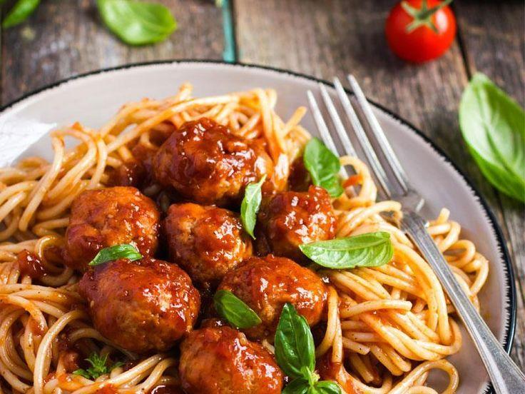 Spaghetti Aux Boulettes De Viande, Chorizo Et Poivrons Avec Votre Cookeo
