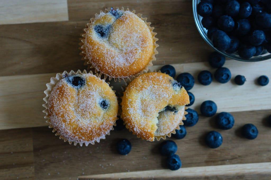 Muffins aux myrtille céto