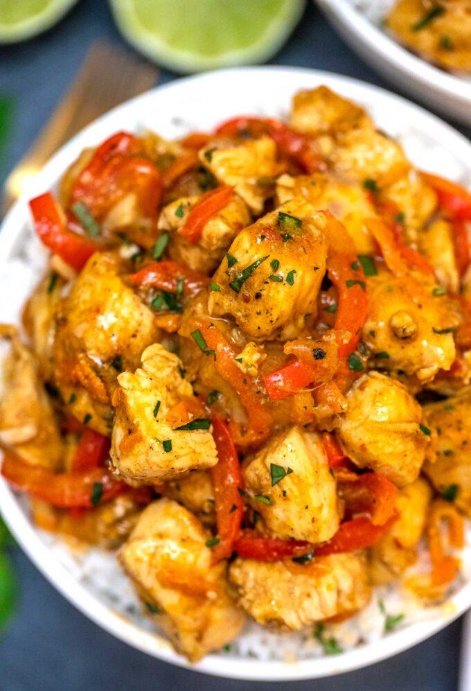 Poulet au Curry et noix de coco avec votre Cookeo
