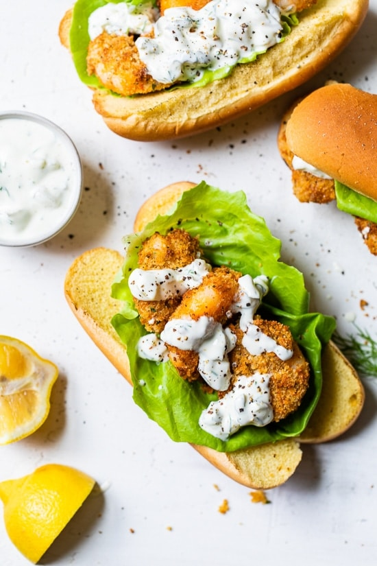 AIR FRYER FRIED SHRIMP SANDWICH