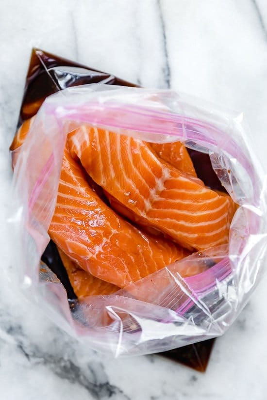 Air Fryer Salmon With Maple