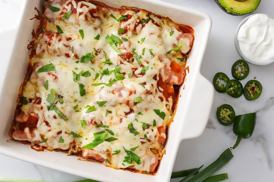 Simple Keto Enchiladas