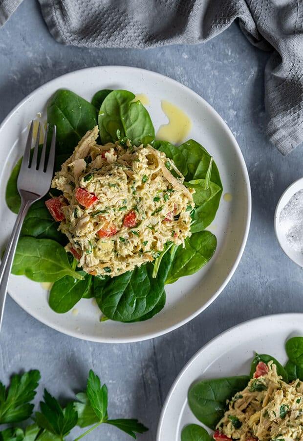 salade de poulet keto