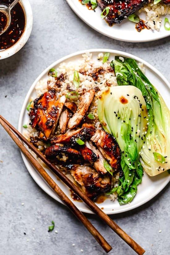 Air Fryer Asian-Glazed Boneless Chicken Thighs