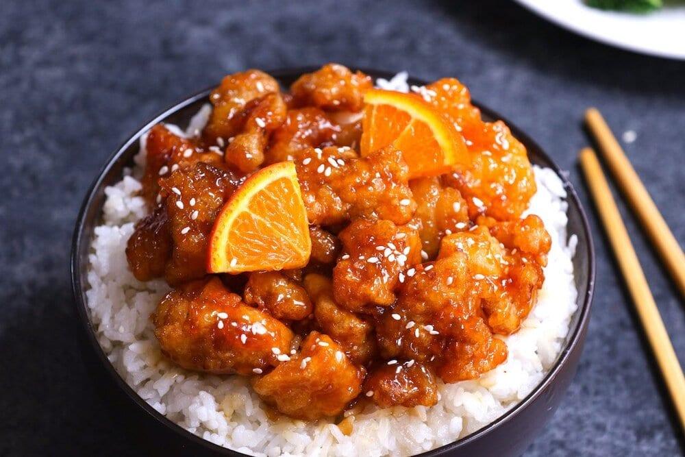 poulet à l'orange au cookeo