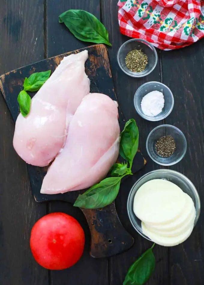 Air Fryer Caprese Chicken